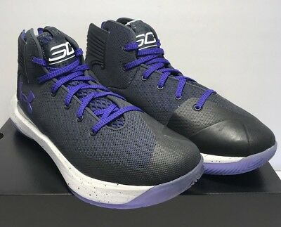 93d7698a81e Under Armour Mens Size 10 Curry 3Zero Black Purple Athletic Basketball  Shoes New