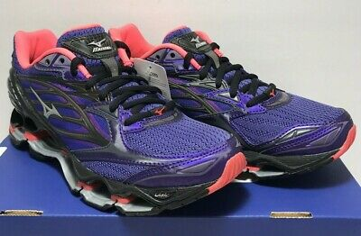 32d9ab69e8a1 Mizuno Womens Size 7.5 Wave Prophecy 6 Nova Black Purple Running Shoes