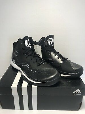 online store 4ba11 b6b39 Adidas Mens Size 5 D Rose 773 III Black White Basketball Training Athletic  Shoes