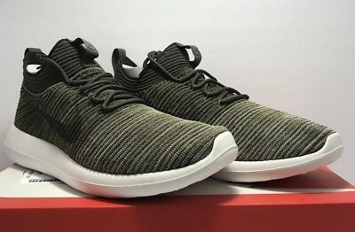 08454fc020343 Nike Mens Size 12 Roshe Two Flyknit V2 Sequoia Olive Green Athletic Run  Shoes