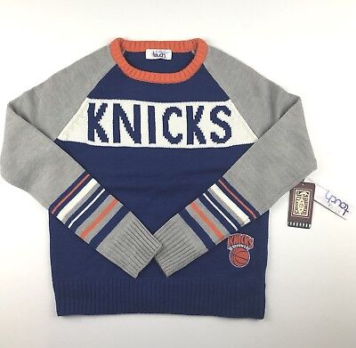 New York Knicks Womens Small Touch by Alyssa Milano Laced Up Sweater Gray