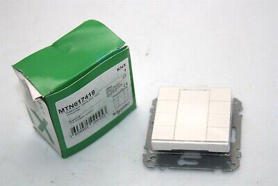 Schneider Electric KNX MTN617419 Push Button 4-gang Plus Polar White Glossy