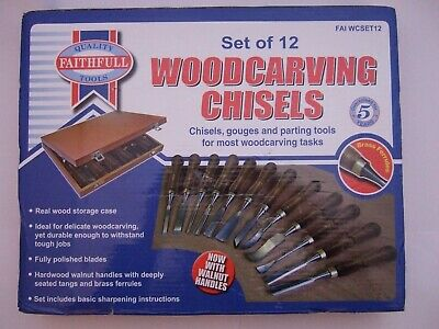 Faithfull FAIWCSET12 - Woodcarving Set in of 12 in Case