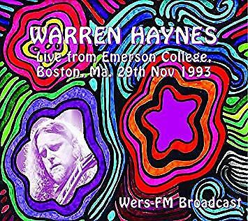 Warren Haynes - Live from Emerson College, (Boston, Ma. 29th Nov 1993)  (1CD)
