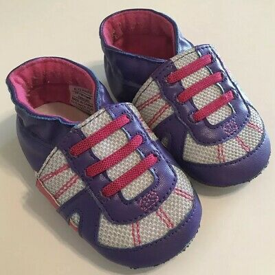 f93c62cd4f11 Surprize by Stride Rite Baby Girl Crib Shoes Size 6-12 months Soft Sole