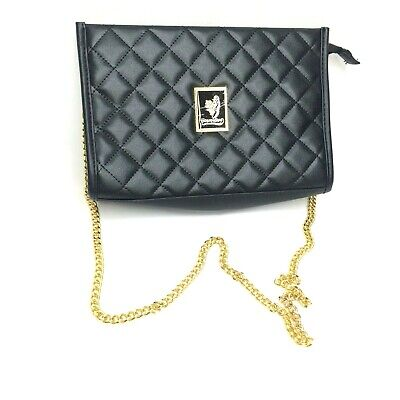 b62fc02c4875 Younique Womens Black Quilted Purse with Gold Chain Strap New without Tags