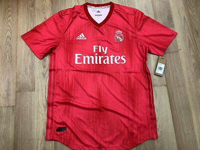 83e9dae92 adidas Real Madrid Third Authentic 18 19 Replica Football Shirt Large Mens