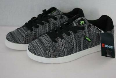 28357372e4d NEW AND1 Youth Boys Tennis Shoes Size 3 Gray Sneakers Knit Courtside Gym  Casual