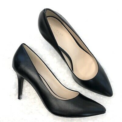 e734f21ba9e Cole Haan Quincy Womens Size 10.5B Black Leather Heel Pump Classic Shoes  Work