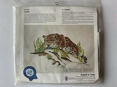 Jaguar Vintage Crewel Kit by Reynolds Vanishing Species Factory Sealed NOS