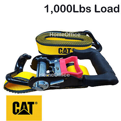1 x Heavy Duty Ratchet Strap - 1000lbs Load, Tie Down Lashing Rachet