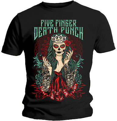 Five Finger Death Punch 'Lady Muerta' T-Shirt - NEW & OFFICIAL