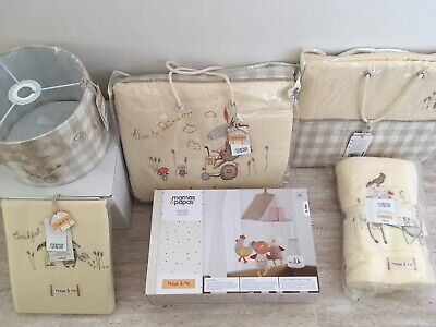 New Mamas and Papas Murphy & Me Nursery Collection Bedding Curtains Mobile