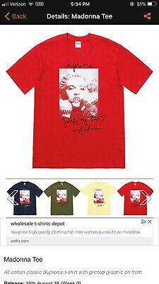 994684400 SUPREME MADONNA TEE Red Size Medium - $115.00 | PicClick