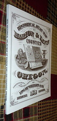 Historical Atlas Map Marion Linn Counties,Oregon,VG,SB,Facsimile,2004   T