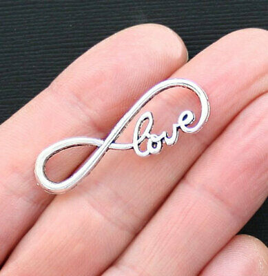 New 10//50//300pcs Antique Silver Tone 8 Infinity Sign Charms Connectors 23x8mm