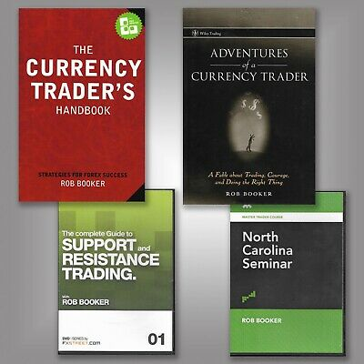 LOT: 2 Books & 5 DVDs - In-Depth Training for Day Trading Stocks, Forex, Futures