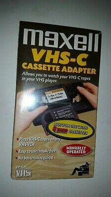 Maxell VHS-C Cassette Adapter VP-CA S-VHS Tape Player Converter Video Cassette
