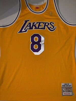 more photos 1baf5 2171d LOS ANGELES LAKERS Kobe Bryant Mitchell & Ness 96-97 Authentic Home Jersey  48 XL