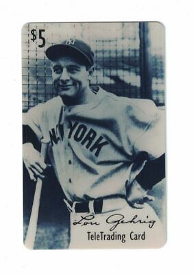 Lou Gehrig Vintage Collector Baseball Phone Card $5 1st Edition 5000 Mintage
