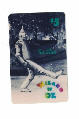 Wizard of Oz Tin Man Collector Vintage Phone Card $5 1st Edition 5000 Mintage