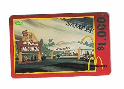 McDonald's Restaurant Vintage Collector Phone Card $1000 Promo Card 1996 Classic