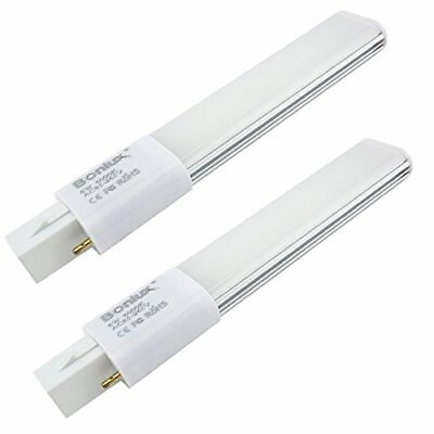 2-PACK LED PL Horizontal Recessed G23 Bulb for CFL Fluorescent Lamp Replacement