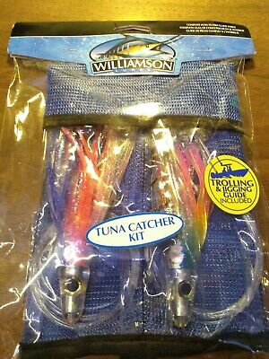 RED//CLEAR Octopus Squid WILLIAMSON BIG FISH CATCHER 2-Pack 6.25/""