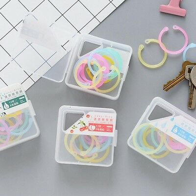 Plastic Multifunction Circle DIY Album Loose Leaf Book Binder Hoop Ring Great