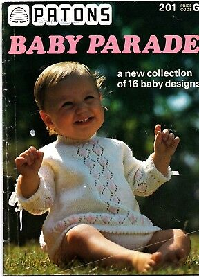 Patons Baby Parade 16 Baby Knitting Patterns Booklet 1 15