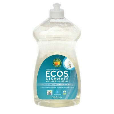 Earth Friendly Baby Dishmate Washing Up Liquid - Fragrance Free [750ml] (8 Pack)