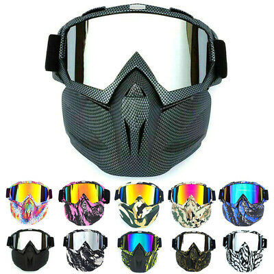 Tactical Goggles Face Mask Airsoft Paintball Soft Bullet Dart Protective Glasses