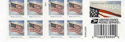 One Book Of 20 U.s. Flag Usps First Class Forever Postage Stamps #P1111