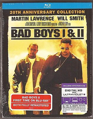 Bad Boys 1 & 2 - Blu-ray + Digital HD 2-Pack 20th Anniversary BRAND NEW