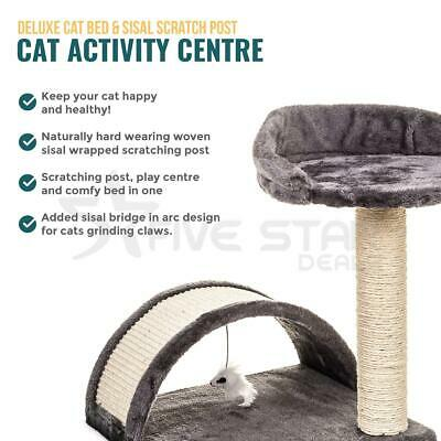 Cat Canopy Kitten Tree Activity Centre Scratch Scratching Post Climbing Toy Bed