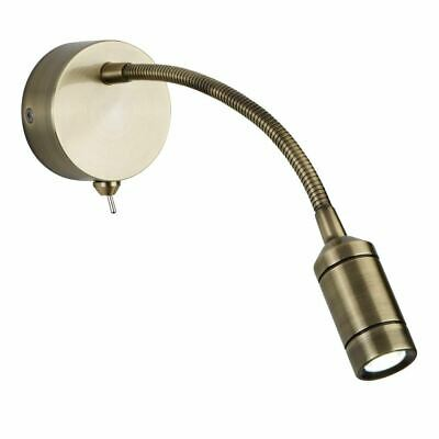 Searchlight LED WALL LIGHT - FLEXI ARM - ANTIQUE BRASS 2256AB