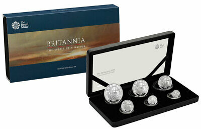 2019 Great Britain Silver Britannia 6 Coin Proof Set Coin GEM Proof OGP SKU57296