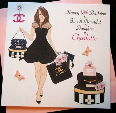 Handmade Personalised Birthday Card Daughter Granddaughter 16th 18th 21st 25th