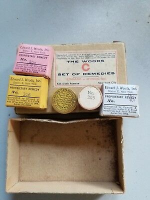 Early 1900S Antique Vintage 1906 The Woods Set Of Remedies Complete