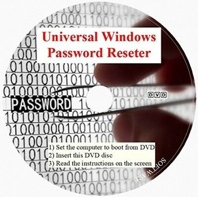 Windows Password Recovery Reset Disc x32/x64 Win2000 to Win10 Dell Acer ASUS HP