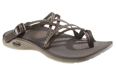 b323aec8fc0a CHACO LOCAL ECOTREAD Brown Leather Strap Casual Outdoor Sandals ...