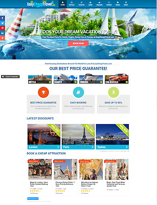 Profitable FULLY Automated TRAVEL Online Business Website For Passive Income