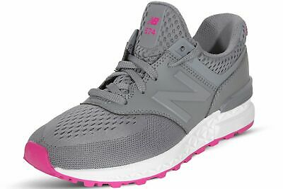 quality design 845d5 fe884 NEW BALANCE WOMEN'S Shoes Grey Pink 574 Sport Classic Running Sneakers  WS574EMB