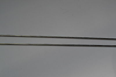 "Titanium grade 2 Round Bar Rod x2 3mm  1/8"" dia x 304mm shaft wire bars RODS"