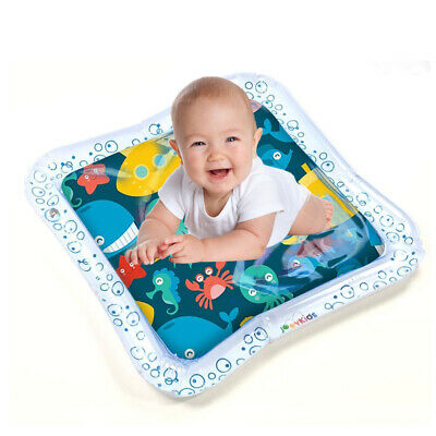 Inflatable Water Play Mat Infant Toddlers Baby Fun Tummy Time Play Activity Y5N3