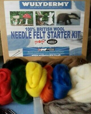 Needle Felt Starter Kit 100% British wool