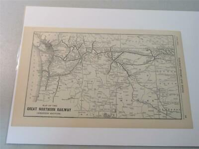 GREAT NORTHERN RAILWAY Map of the United States Vintage Railroad ...