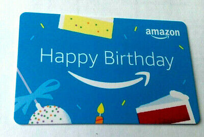 Happy Birthday Amazon GIFT CARD RECHARGEABLE NO VALUE