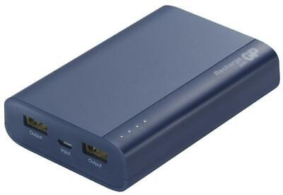 7500mAh Dual Port PowerBank Portable USB Charger, Blue - GP BATTERIES