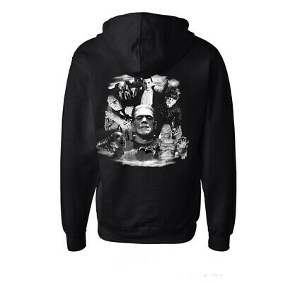 Universal Monsters Collage Mummy Wolfman Frankenstein Dracula Hoodie UMBELA-HOOD